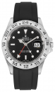 black FKM-rubber strap for Rolex Explorer II