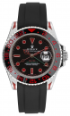 black FKM-rubber strap for Rolex GMT-Master + GMT-Master II