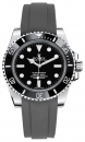 black FKM-rubber strap for Rolex Submariner